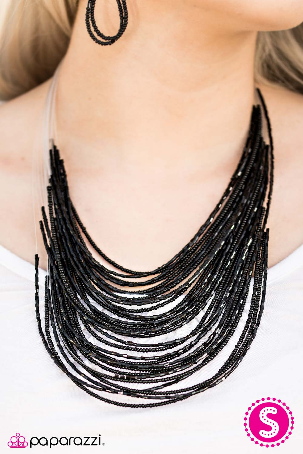 Black Seed Bead Necklace Images Paparazzi Accessories Starlight Serenade Jpg