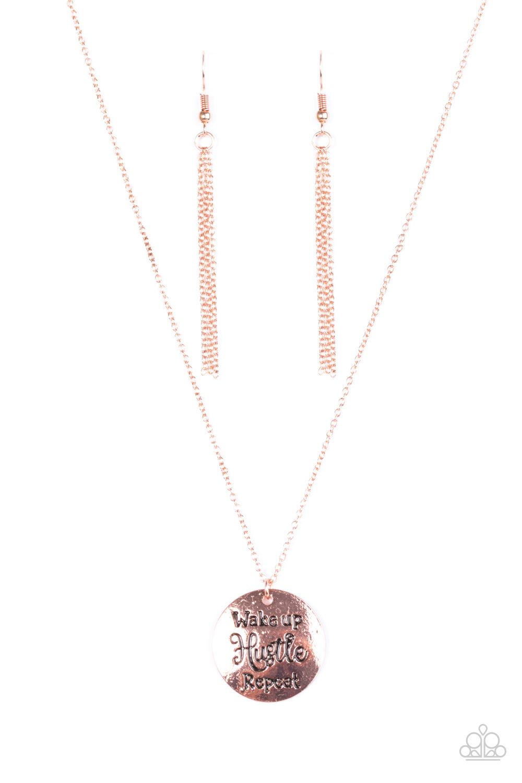 Accessories >> Paparazzi Accessories: Hustle On Repeat - Copper