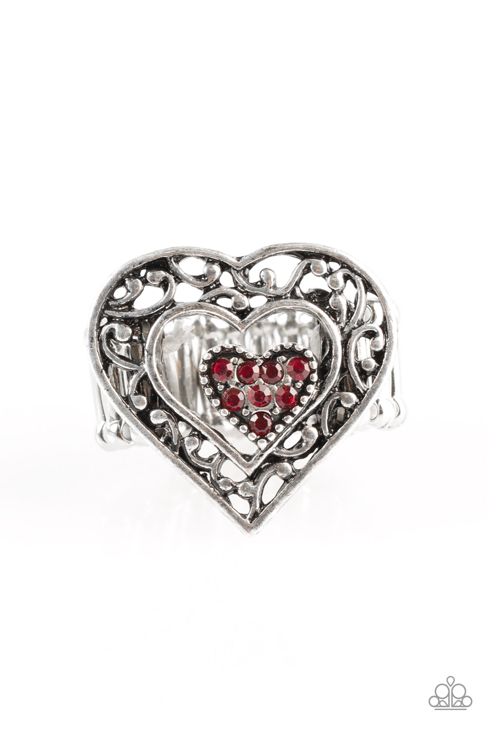 What A Heart Silver Ring Paparazzi