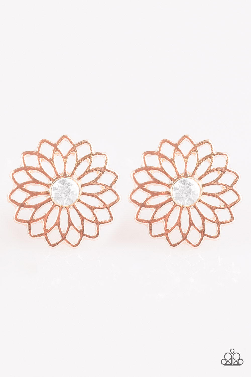 Paparazzi Accessories: Floral Fleek - Rose Gold Post