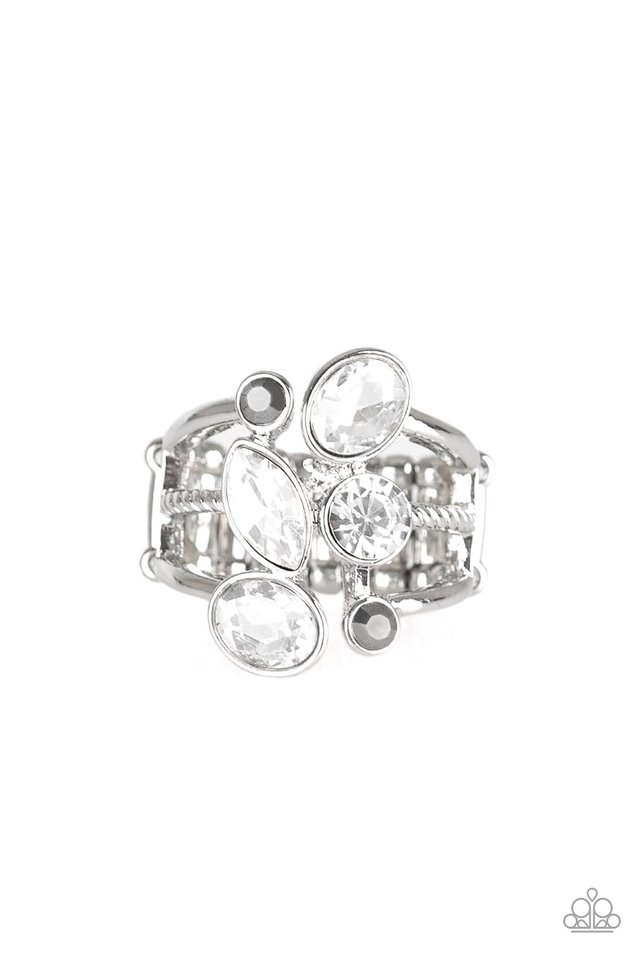 Metro Mingle - Silver - Paparazzi Ring Image