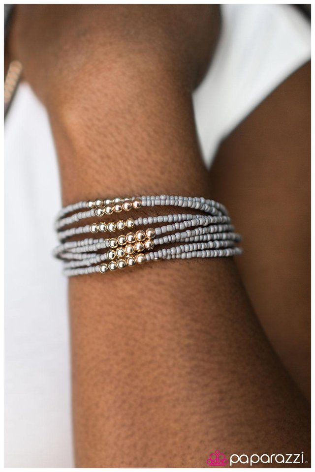 paparazzi accessories you bead me to it gray