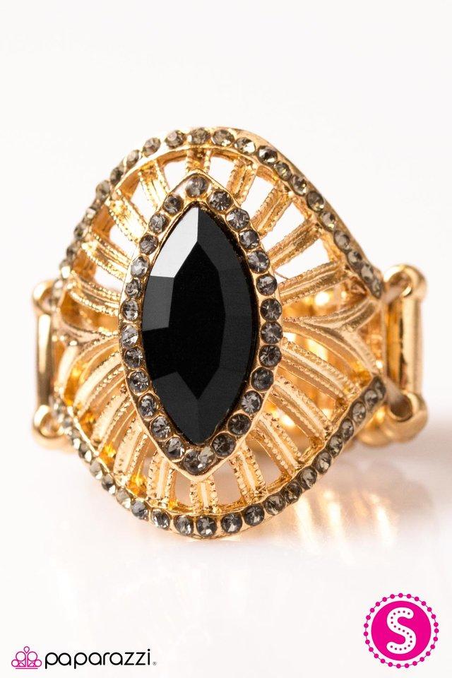 Ornate Red Purple Black Ring