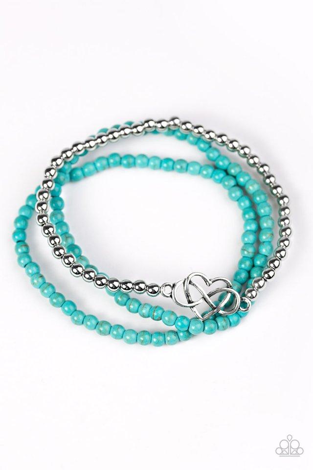 Collect Moments - Blue - Paparazzi Bracelet Image