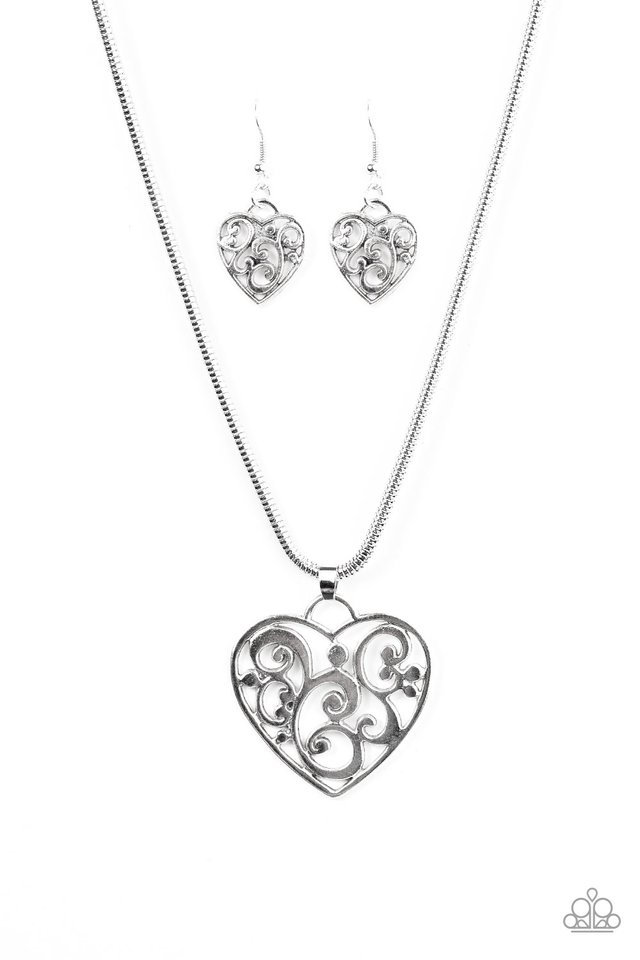 Paparazzi accessories filigree your heart with love silver mozeypictures Image collections
