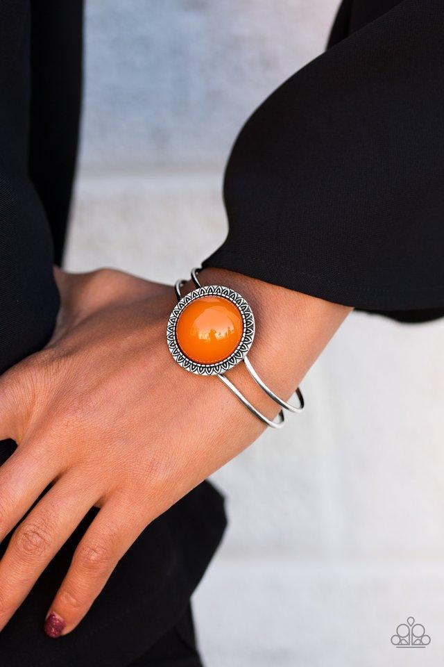 Paparazzi accessories poppin color orange