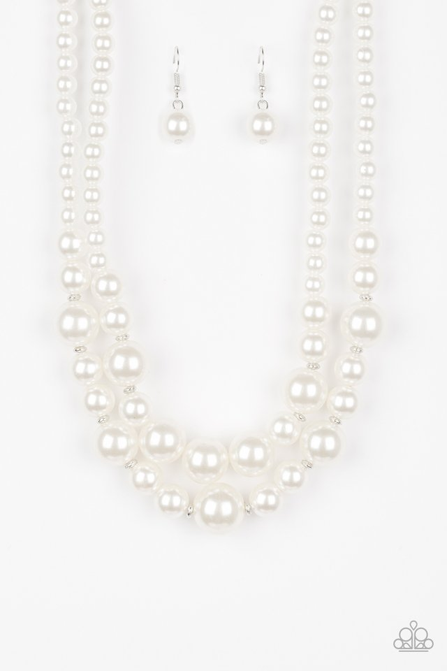 The More The Modest - White - Paparazzi Necklace Image