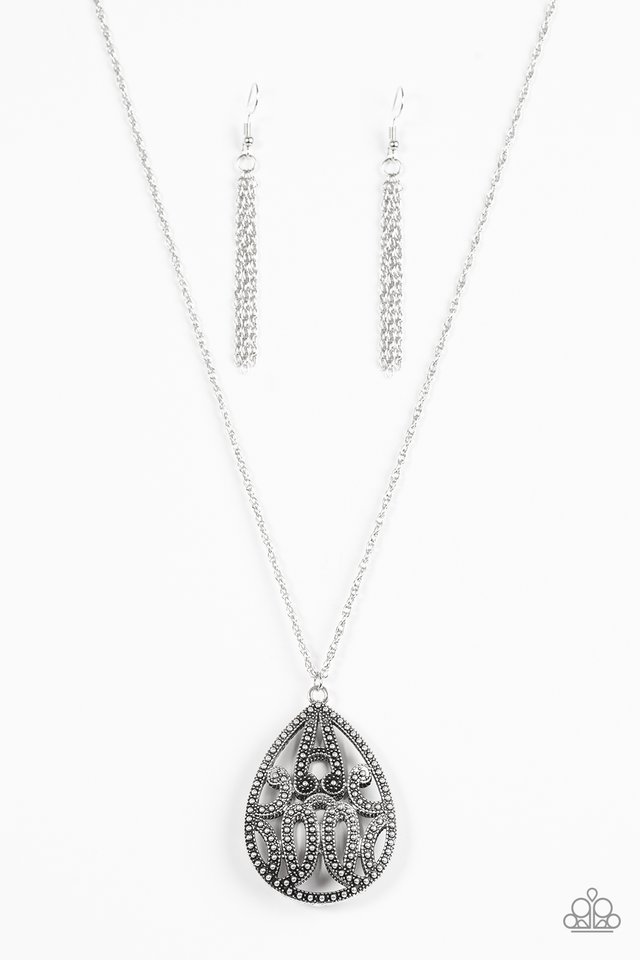 f656fb93b040 Paparazzi Accessories  TEARDROP-Dead Gorgeous - Silver