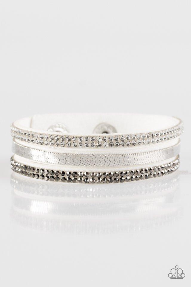 I Mean Business - White - Paparazzi Bracelet Image