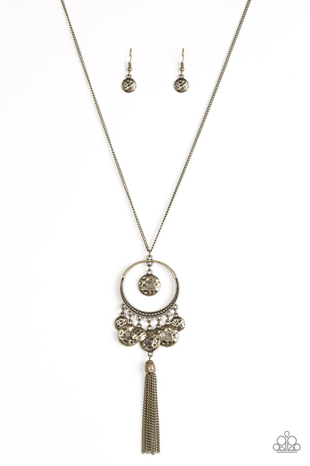 Never ZOO Much - Brass - Paparazzi Necklace Image