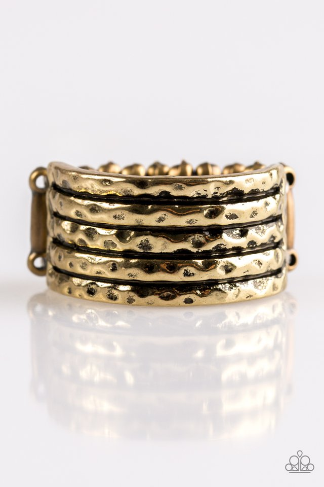 Texture Timbre - Brass - Paparazzi Ring Image