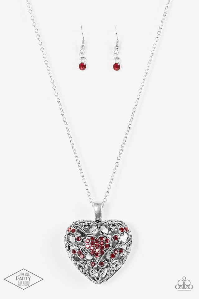 Heartless Heiress - Red - Paparazzi Necklace Image