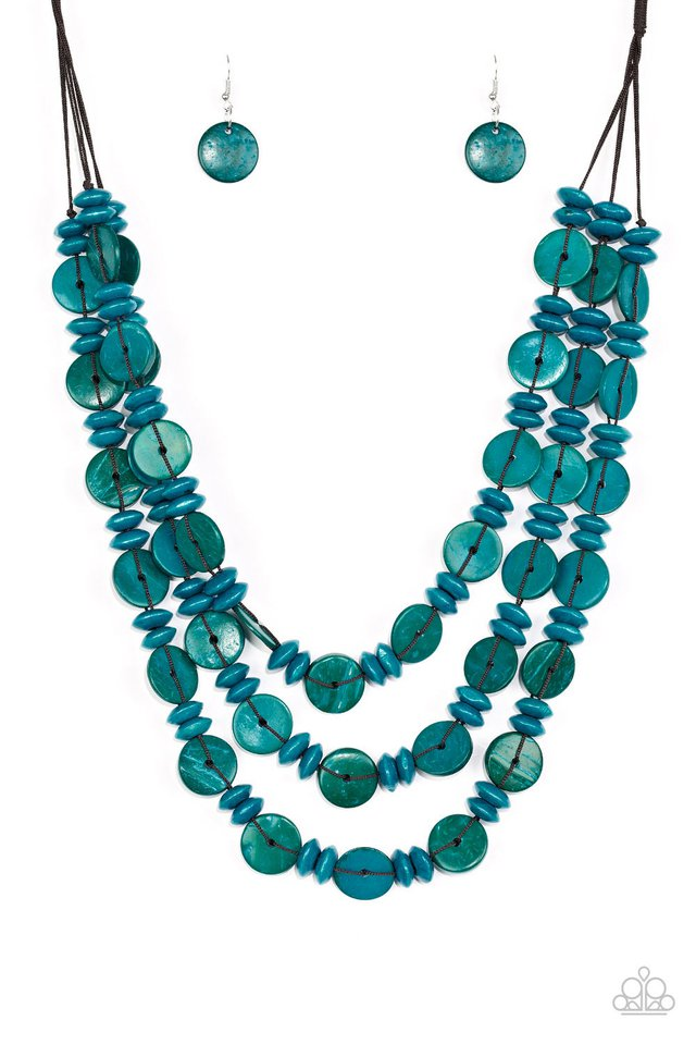 Barbados Bopper - Blue - Paparazzi Necklace Image