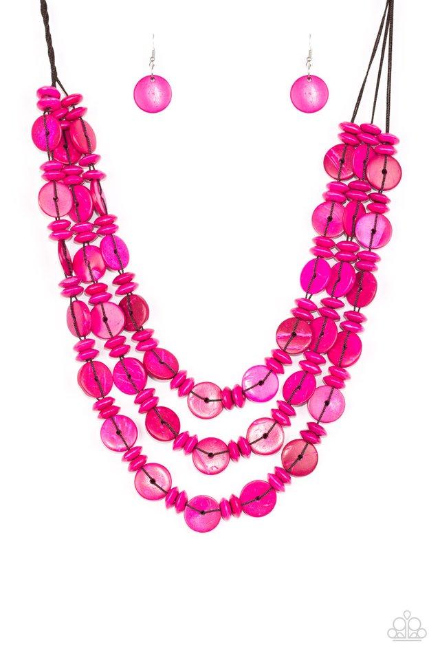 Barbados Bopper - Pink - Paparazzi Necklace Image