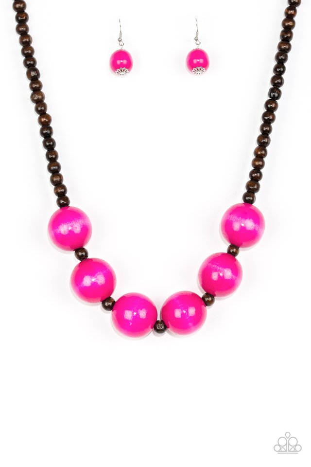 Oh My Miami - Pink - Paparazzi Necklace Image