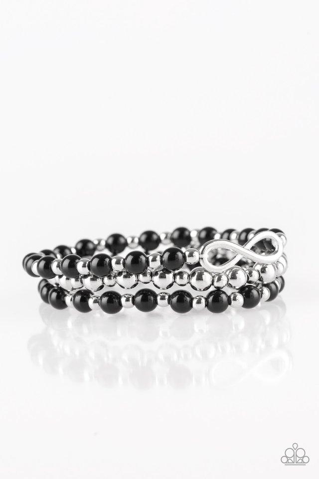 Immeasurably Infinite - Black - Paparazzi Bracelet Image