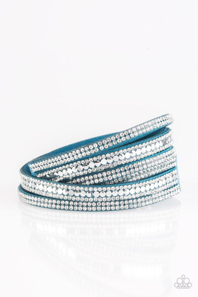 Rock Star Attitude - Blue - Paparazzi Bracelet Image