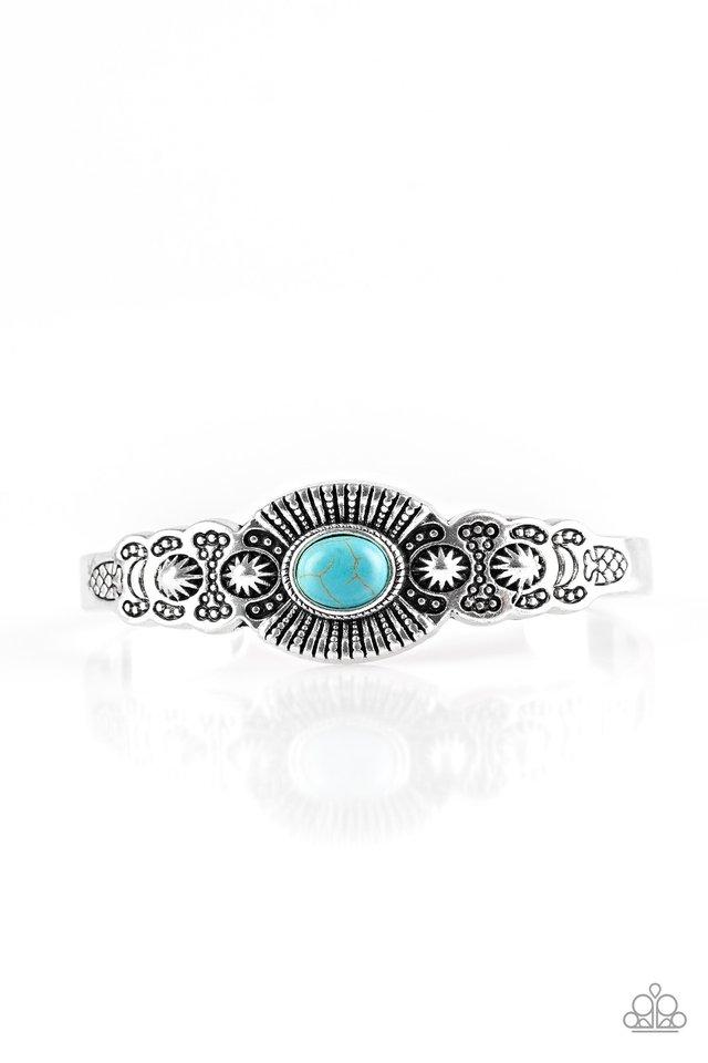 Wide Open Mesas - Blue - Paparazzi Bracelet Image