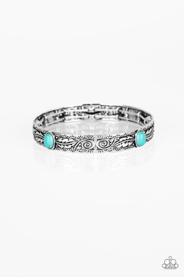 Wild West Story - Blue - Paparazzi Bracelet Image