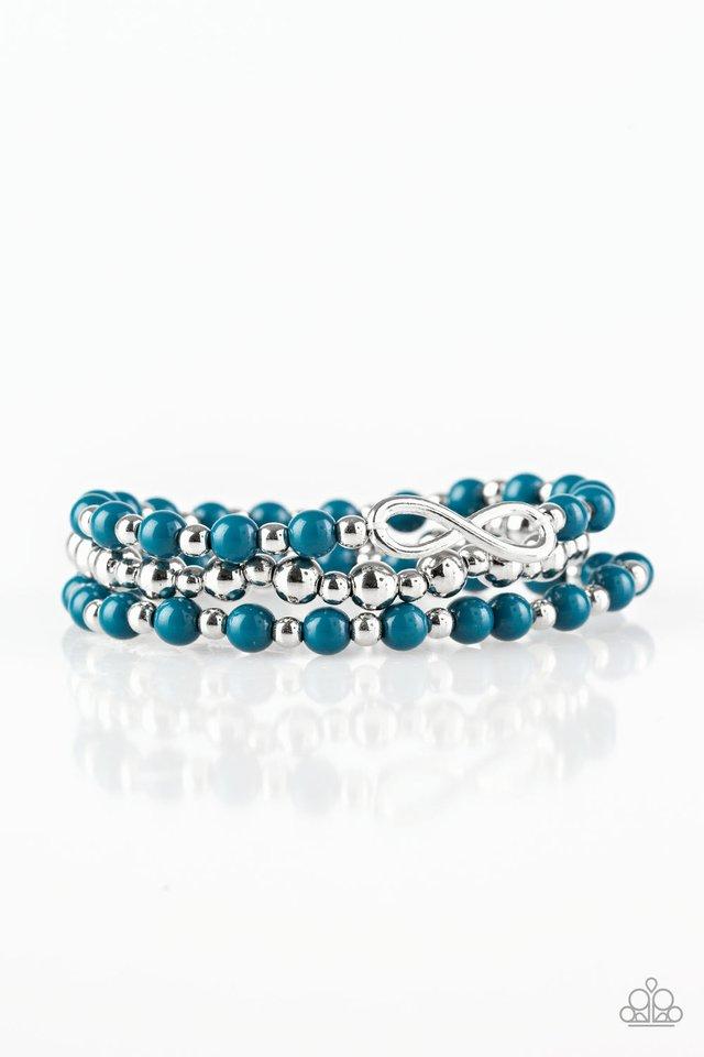 Immeasurably Infinite - Blue - Paparazzi Bracelet Image