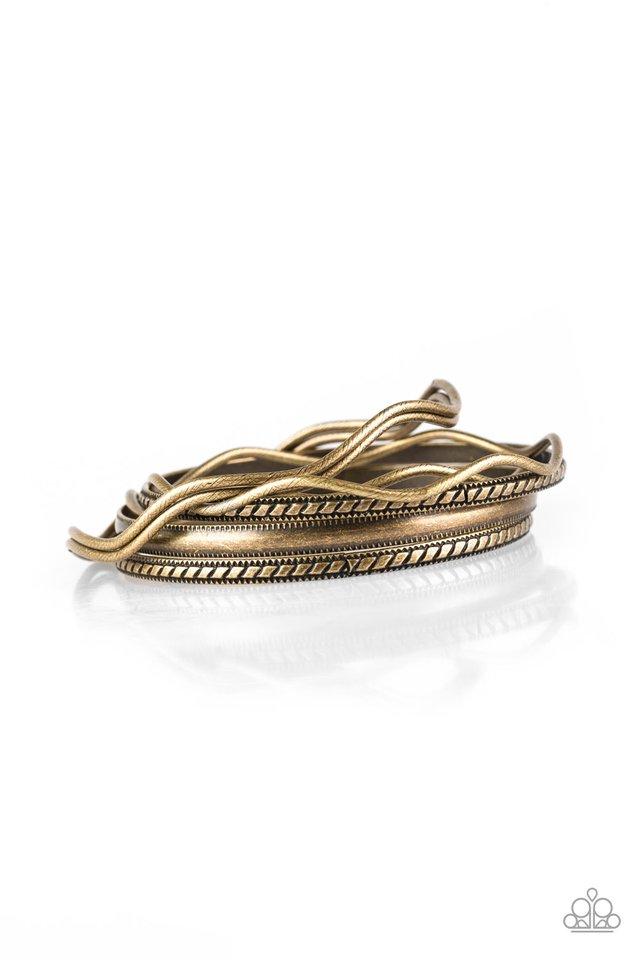 Zesty Zimbabwe - Brass - Paparazzi Bracelet Image
