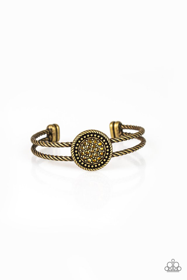 Definitely Dazzling - Brass - Paparazzi Bracelet Image