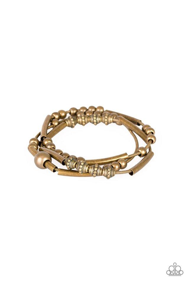 Industrial Instincts - Brass - Paparazzi Bracelet Image