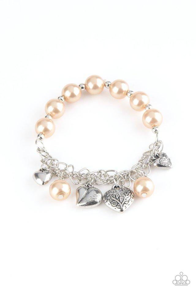 More Amour - Brown - Paparazzi Bracelet Image