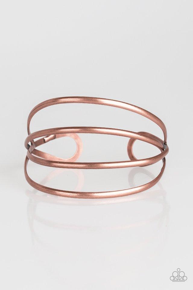 Take A CATWALK - Copper - Paparazzi Bracelet Image