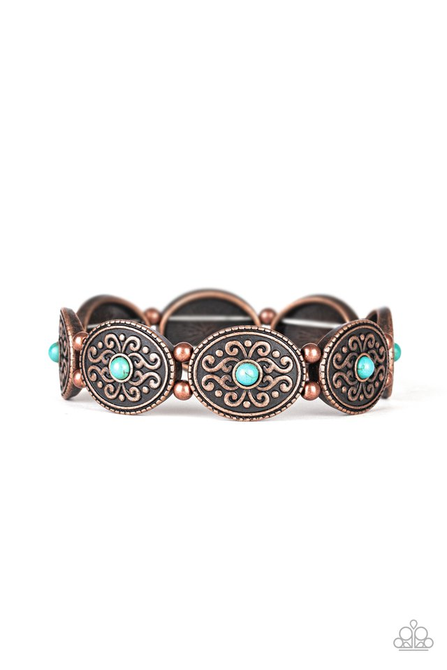 West Wishes - Copper - Paparazzi Bracelet Image