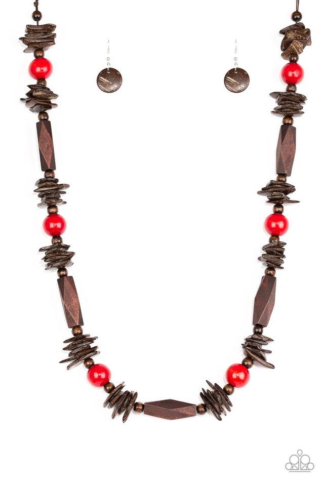 Cozumel Coast - Red - Paparazzi Necklace Image