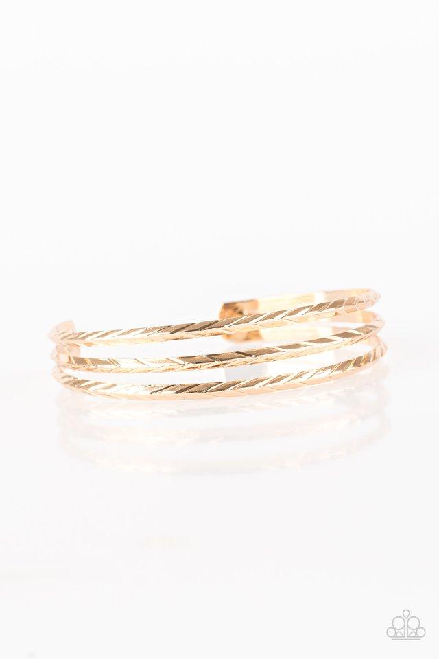 Eastern Empire - Gold - Paparazzi Bracelet Image
