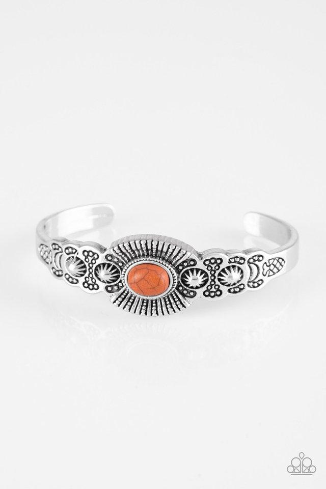 Wide Open Mesas - Orange - Paparazzi Bracelet Image