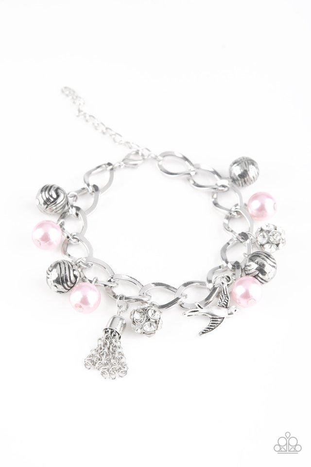 Lady Love Dove - Pink - Paparazzi Bracelet Image