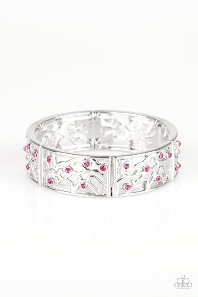 Yours and VINE - Pink - Paparazzi Bracelet Image