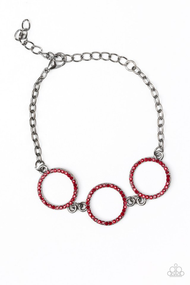 Dress The Part - Red - Paparazzi Bracelet Image