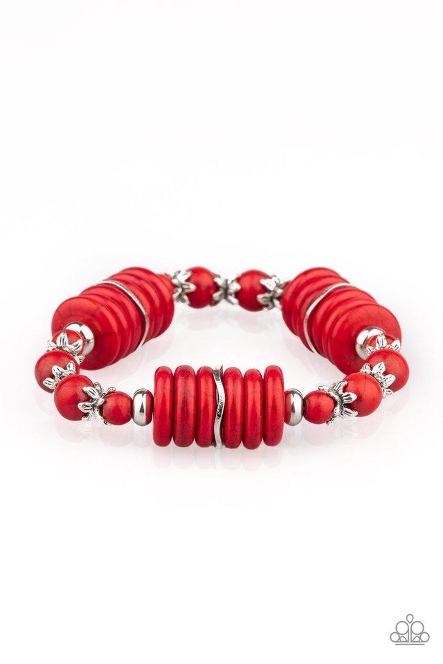 Sagebrush Serenade - Red - Paparazzi Bracelet Image
