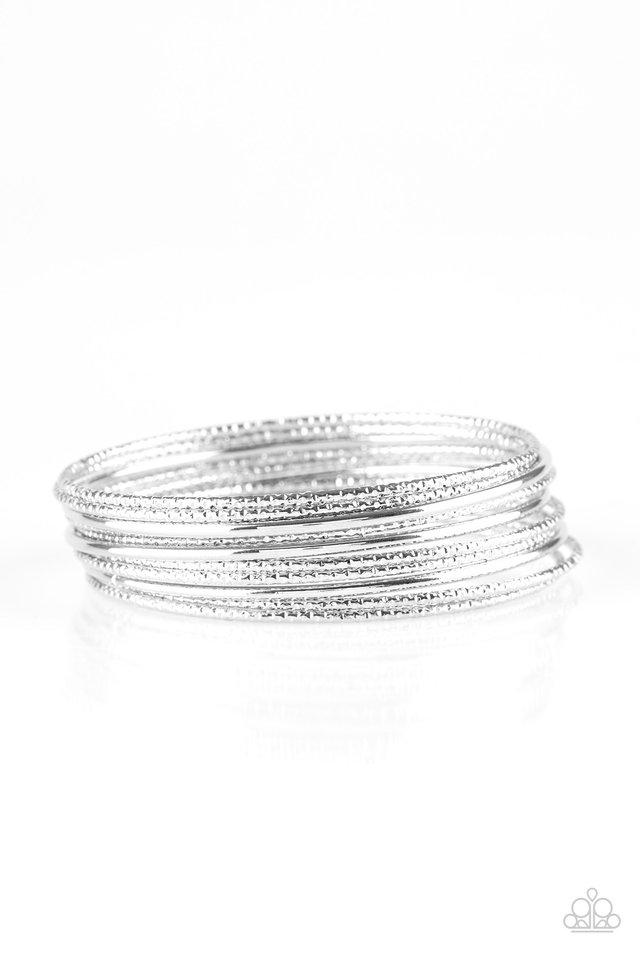 Bangle Babe - Silver - Paparazzi Bracelet Image