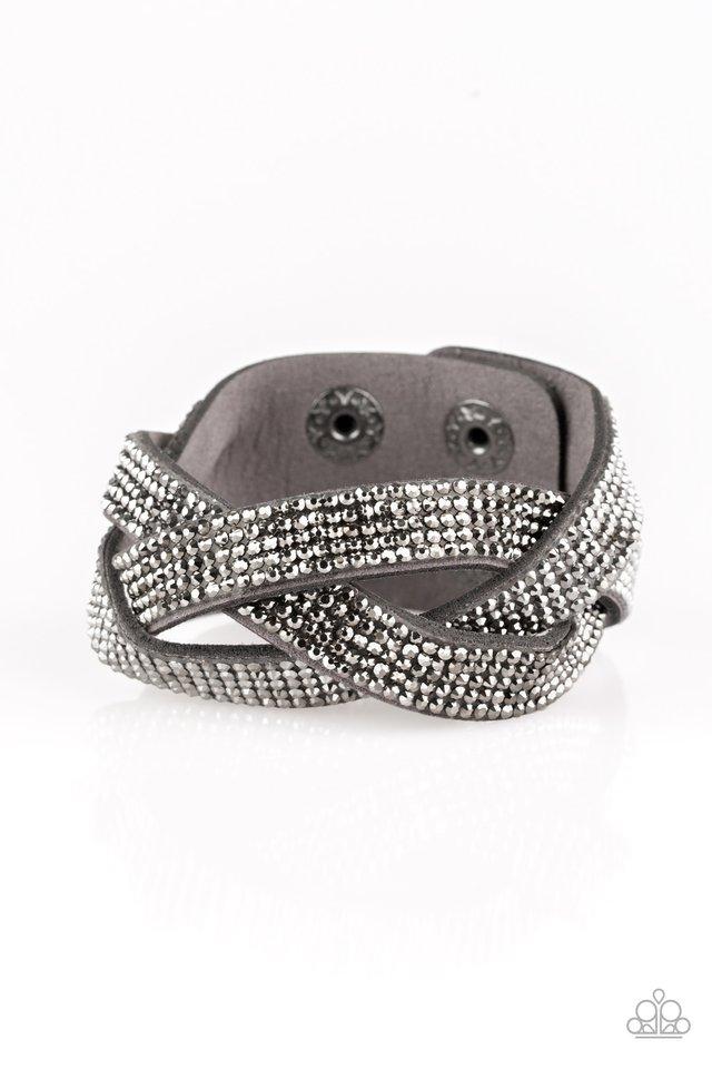 Nice Girls Finish Last - Silver - Paparazzi Bracelet Image