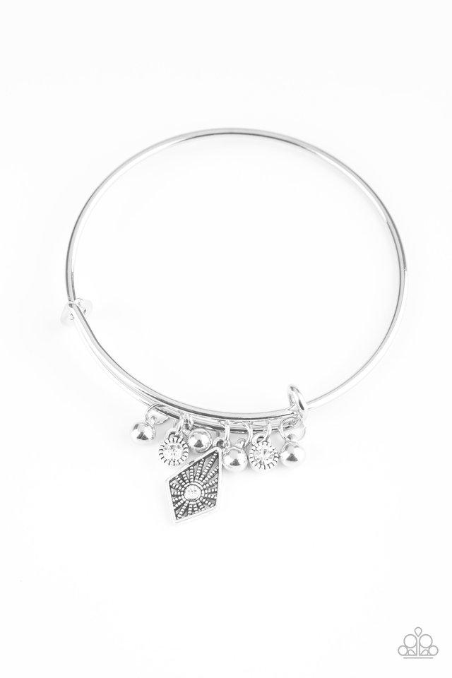 Treasure Charms - White - Paparazzi Bracelet Image