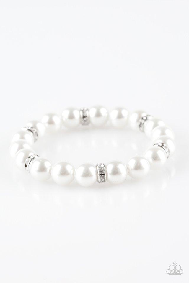 Exquisitely Elite - White - Paparazzi Bracelet Image