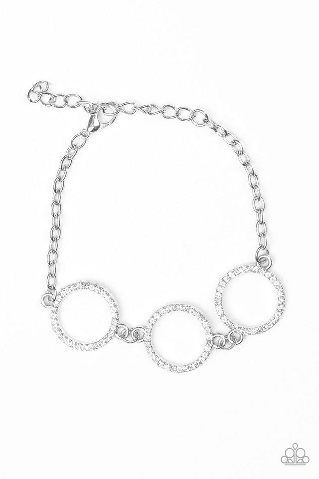 Dress The Part - White - Paparazzi Bracelet Image