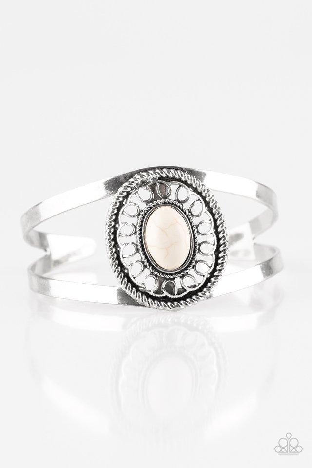 Deep In The TUMBLEWEEDS - White - Paparazzi Bracelet Image