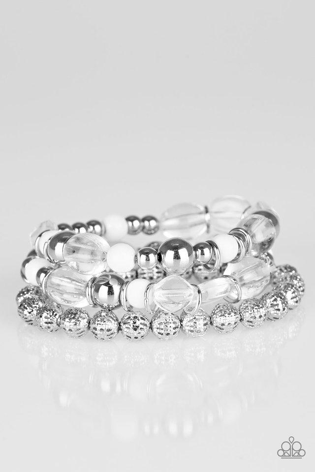Malibu Marina - White - Paparazzi Bracelet Image