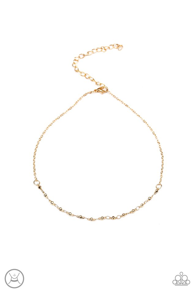 Take A Risk - Gold - Paparazzi Necklace Image