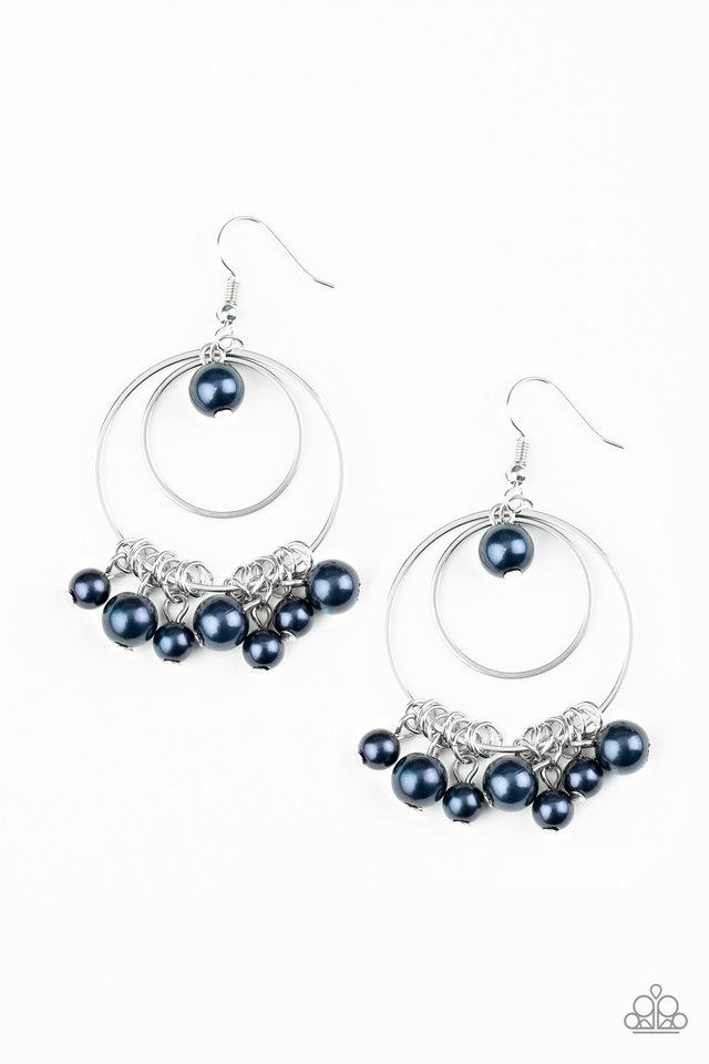 New York Attraction - Blue - Paparazzi Earring Image