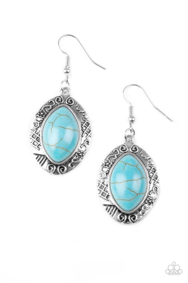 Aztec Horizons - Blue - Paparazzi Earring Image