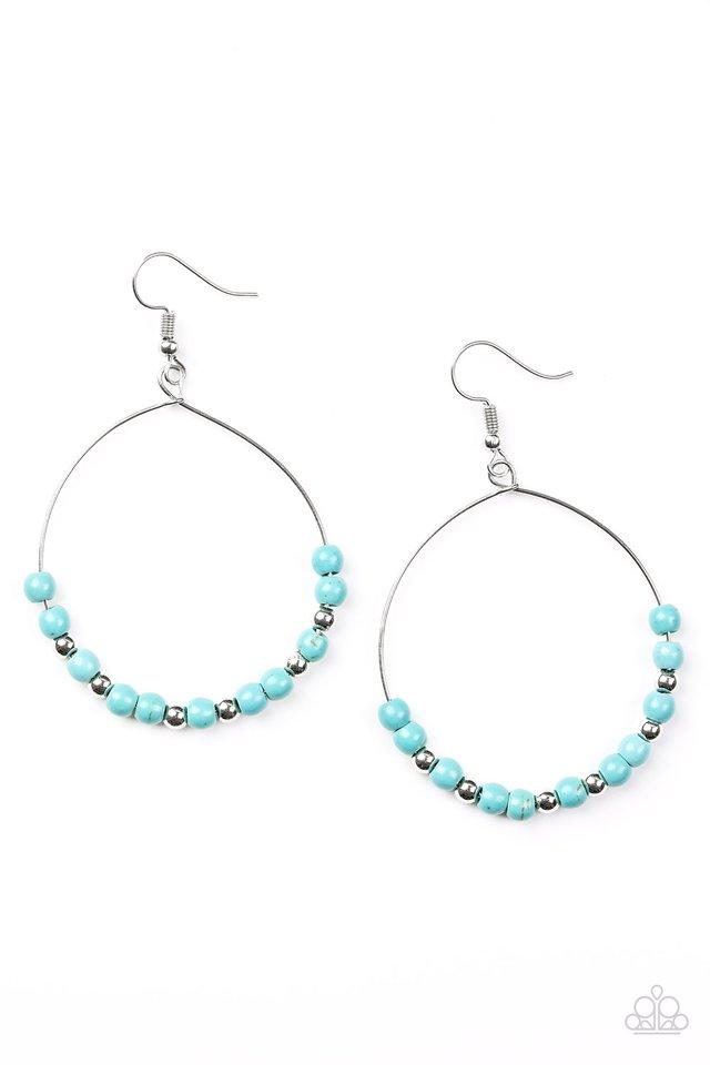 Stone Spa - Blue - Paparazzi Earring Image