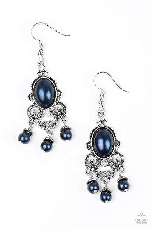 I Better Get GLOWING - Blue - Paparazzi Earring Image