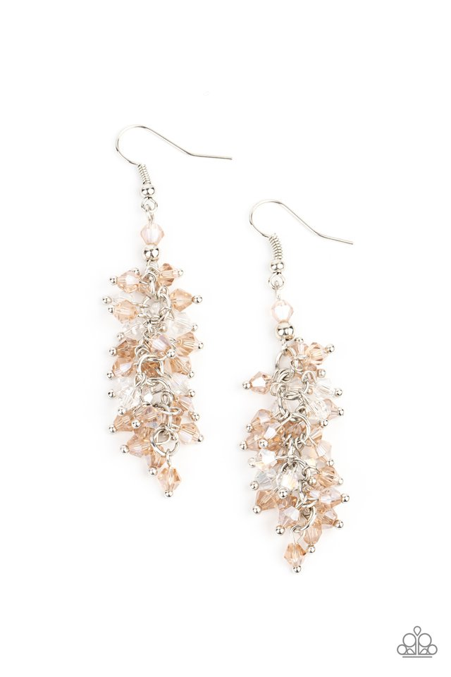 Celestial Chandeliers - Brown - Paparazzi Earring Image
